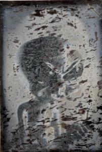 Ufo Daguerrotype, impressió digital de fotografia al daguerrotip, 12x9 cm., 2015.